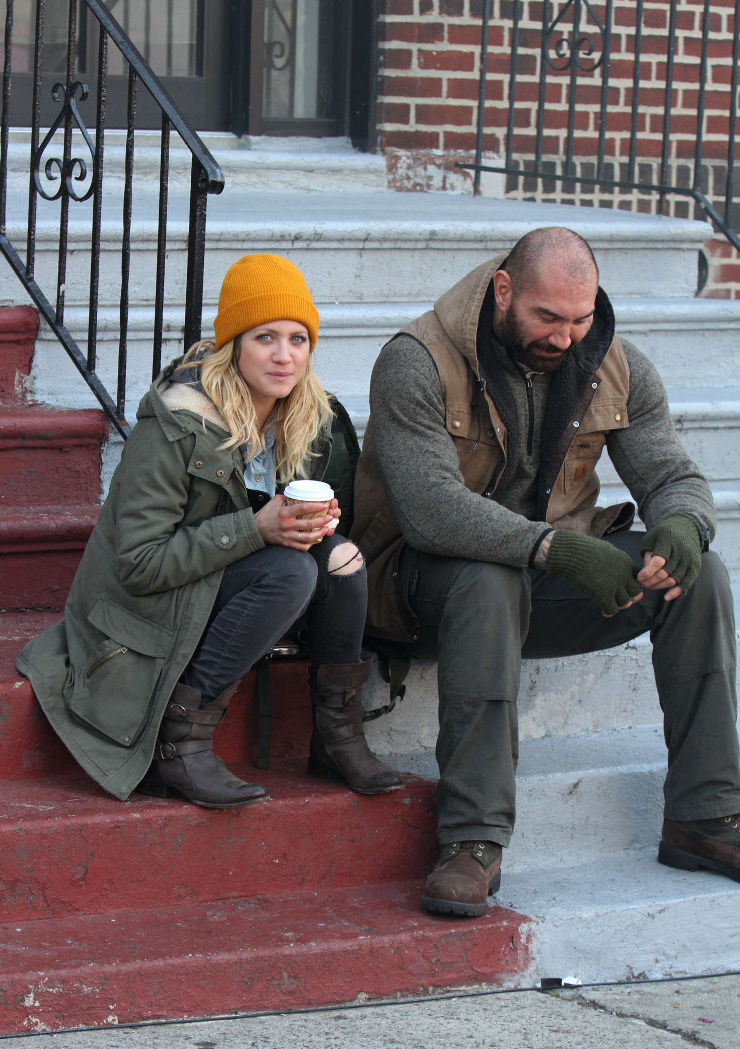 Brittany Snow And Dave Bautista On Bushwick Move Set In