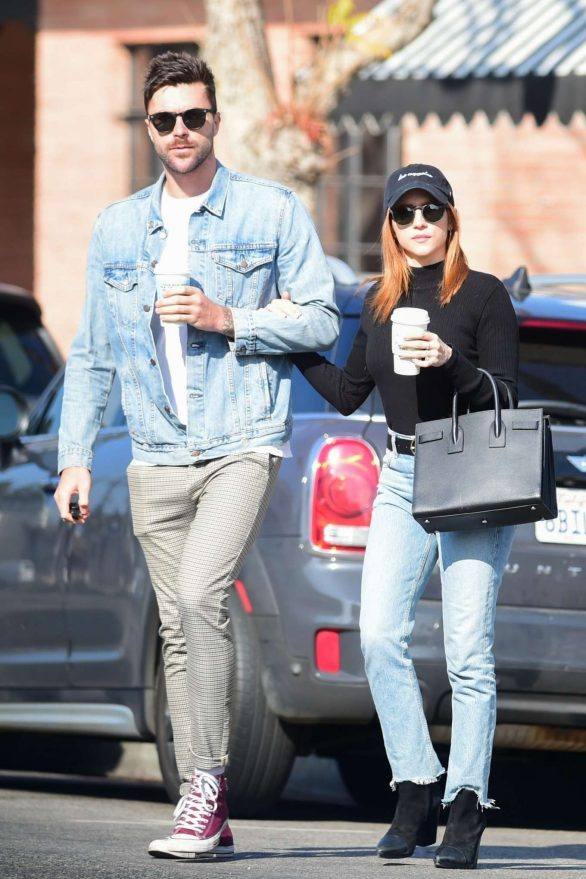 Brittany Snow and Tyler Stanaland - Leave lunch at Joan's On Third in Studio City