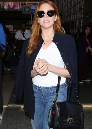 Brittany Snow Arrives at LAX Airport in LA