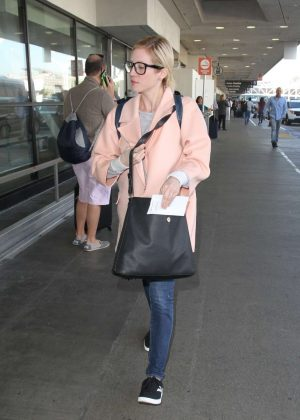 Brittany Snow at LAX Airport in LA