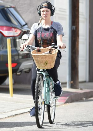 Brittany Snow bike ride out in Los Angeles