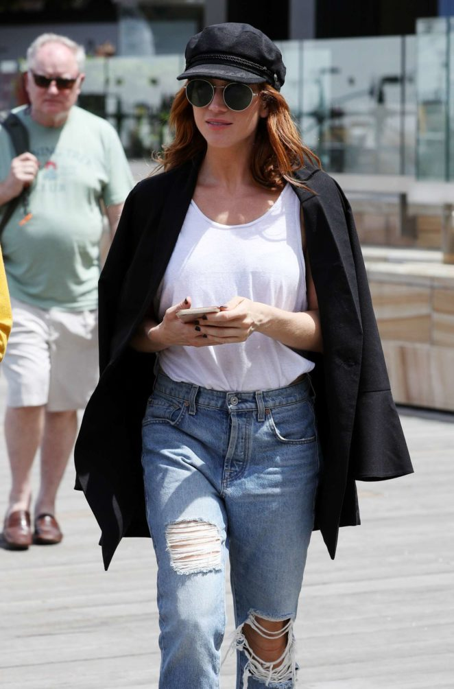 Brittany Snow in Ripped Jeans out in Sydney
