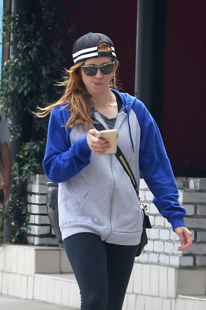Brittany Snow Laving her pilates class in Los Angeles