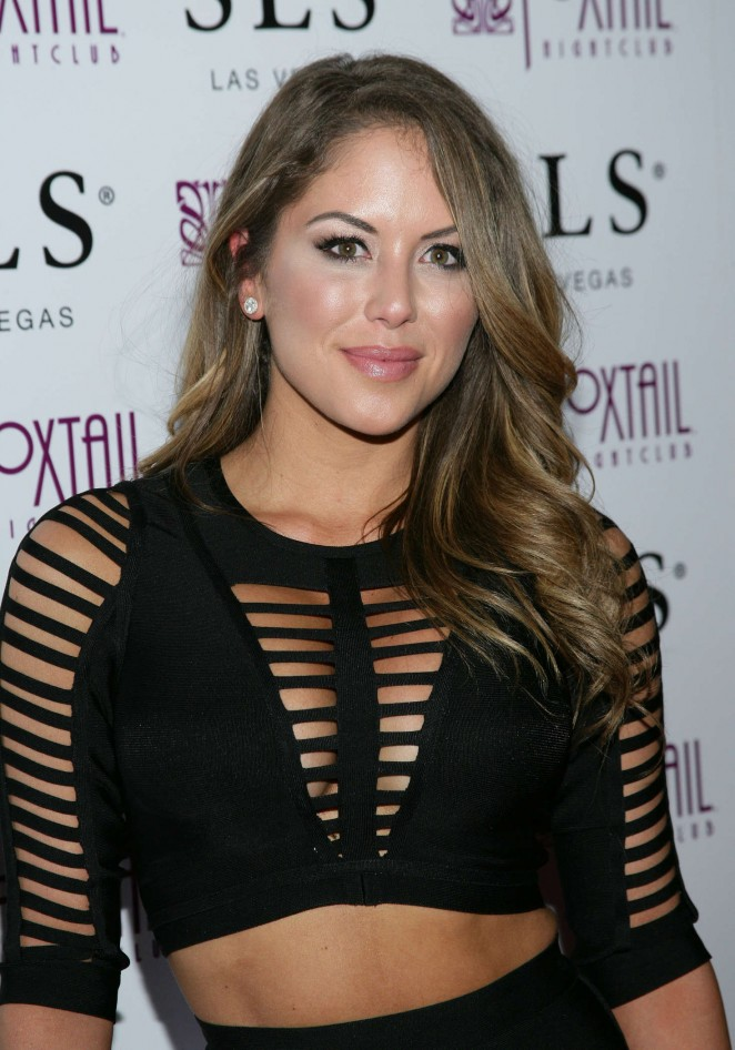 Brittney Palmer - UFC 194 After Party at Foxtail Nightclub in Las Vegas