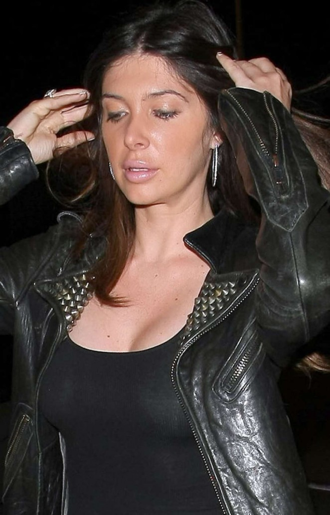 Brittny Gastineau - Arriving at Craig's Restaurant in West Hollywood