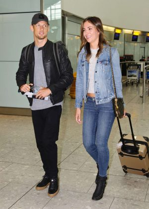 Brittny Ward - Arrives at Heathrow Airport in London