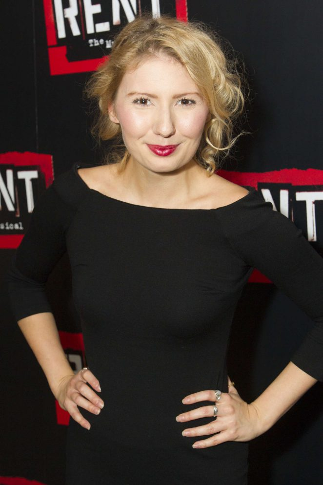 Bronte Barbe - 'Rent' Musical Press Night in London