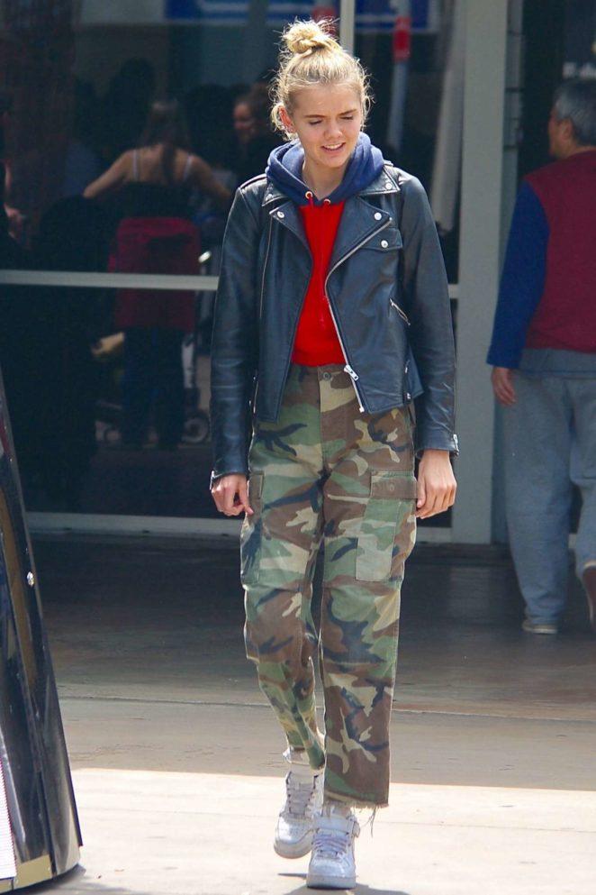 Bronte Blampied - Arrives at Airport in Sydney