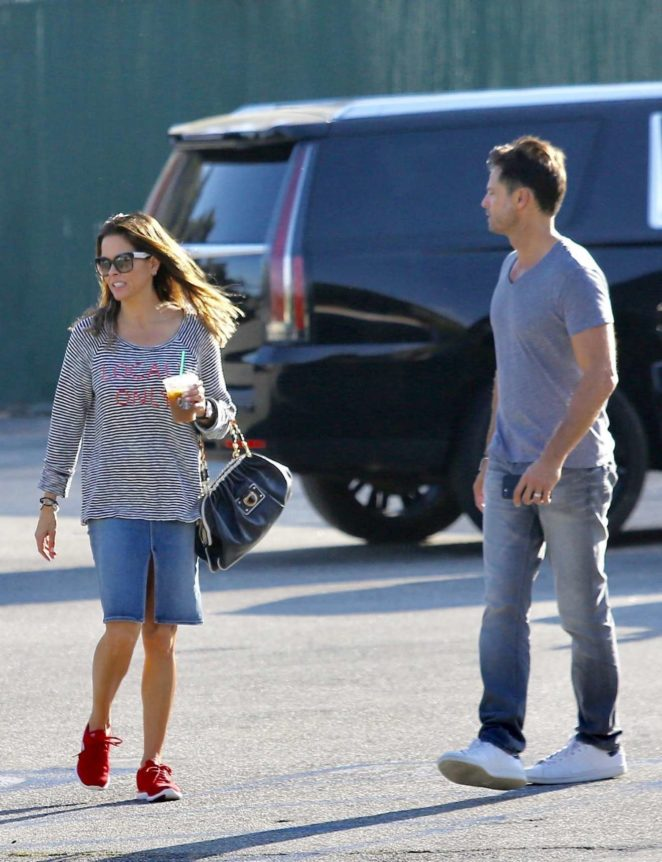 Brooke Burke and her husband David Charvet – Spotted out in Malibu