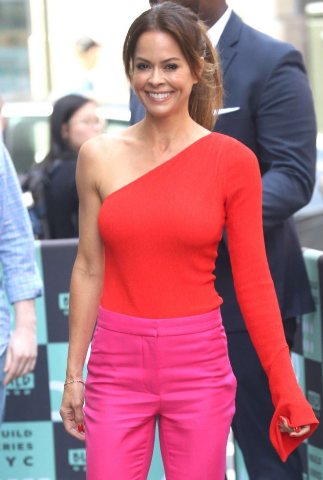 Brooke Burke - Arrives at AOL Build Series in New York