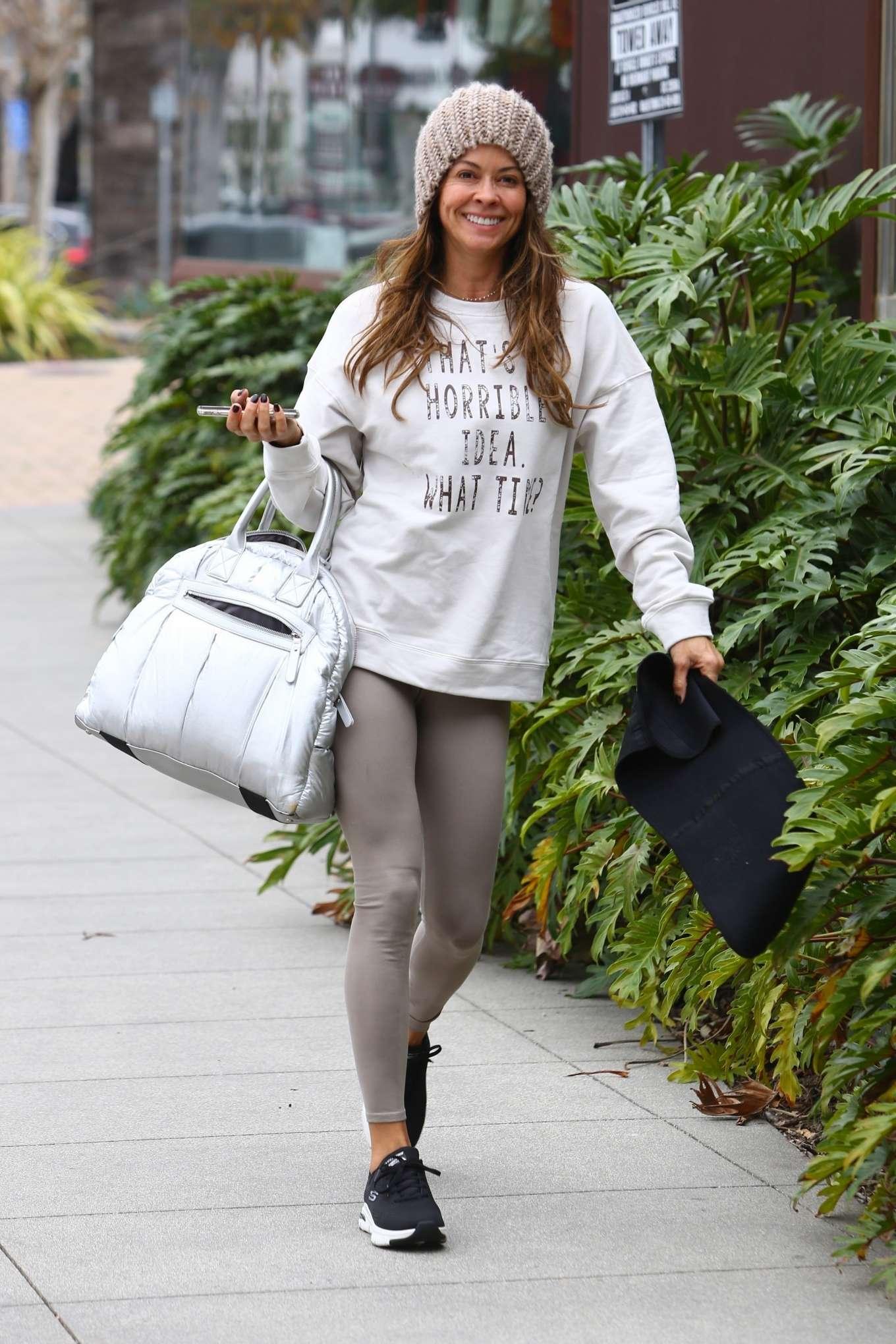 Brooke Burke 2020 : Brooke Burke – Arriving for a Sunday morning workout in Malibu-09