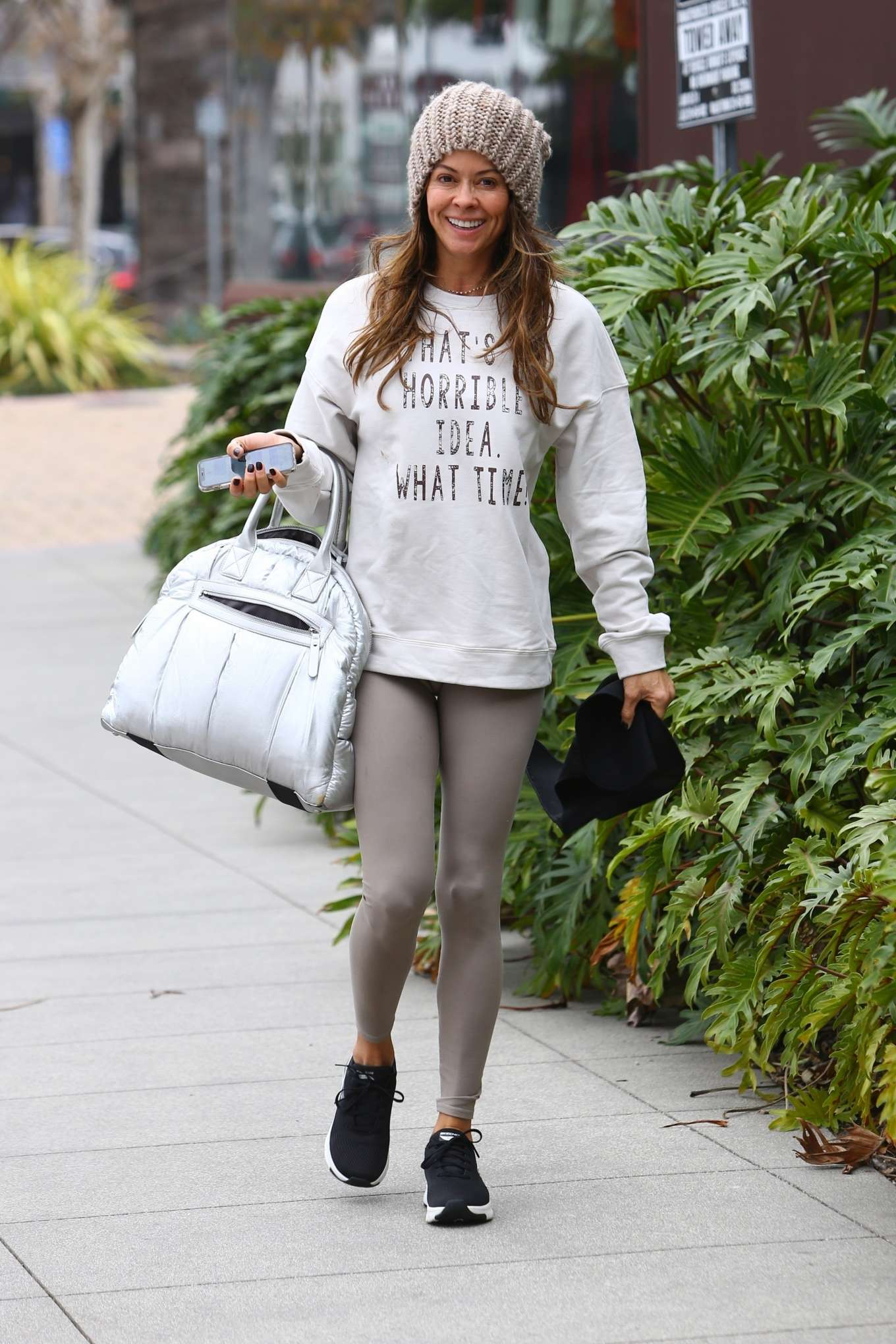 Brooke Burke 2020 : Brooke Burke – Arriving for a Sunday morning workout in Malibu-14
