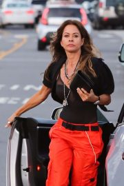 Brooke Burke - Arriving for dinner at Giorgio Baldi in Santa Monica