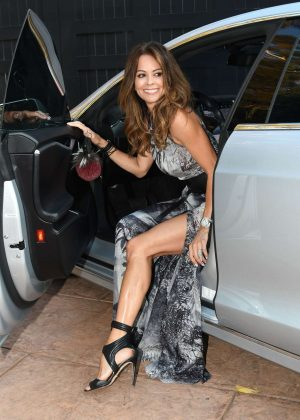 Brooke Burke - Arriving to dinner at Cafe Habana in Malibu
