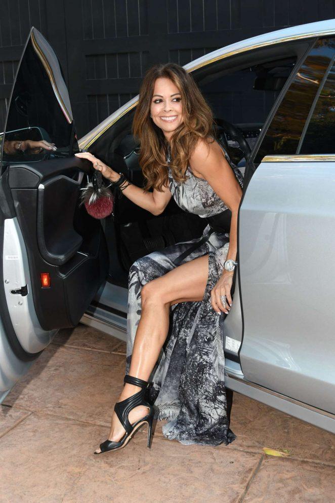 Brooke Burke - Arriving to dinner at Cafe Habana in Malibu