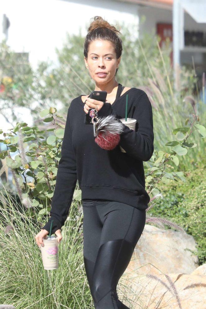 Brooke Burke at SunLife Organics in Malibu