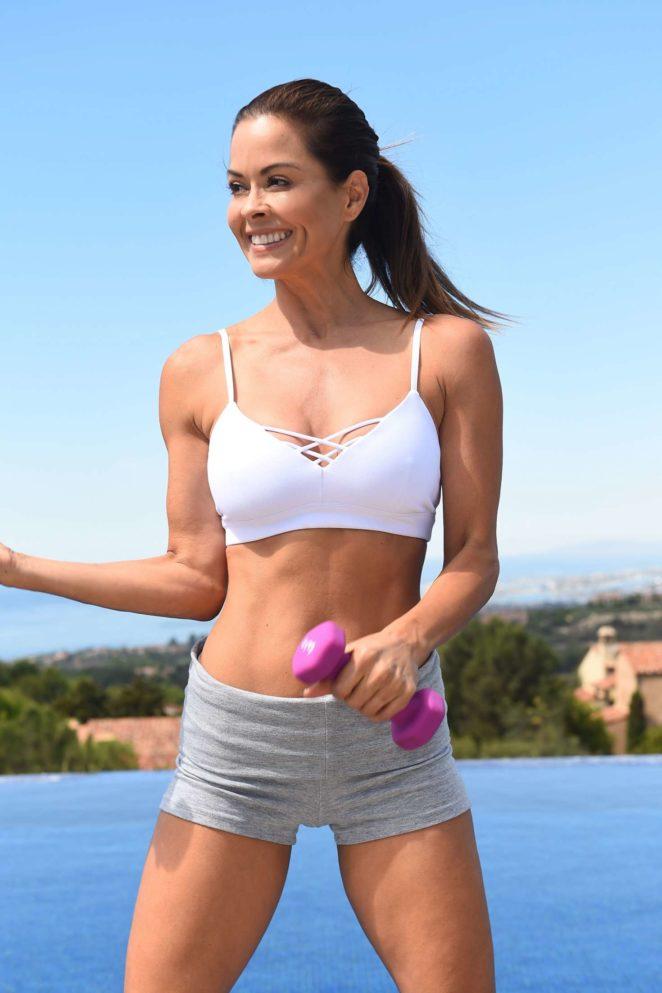 Brooke Burke - Filming her new fitness lifestyle app in Newport Coast