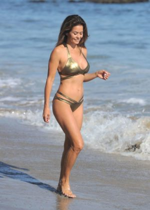 Brooke Burke - In Bikini in Malibu