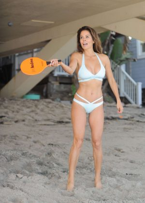 Brooke Burke in Bikini on the beach in Los Angeles