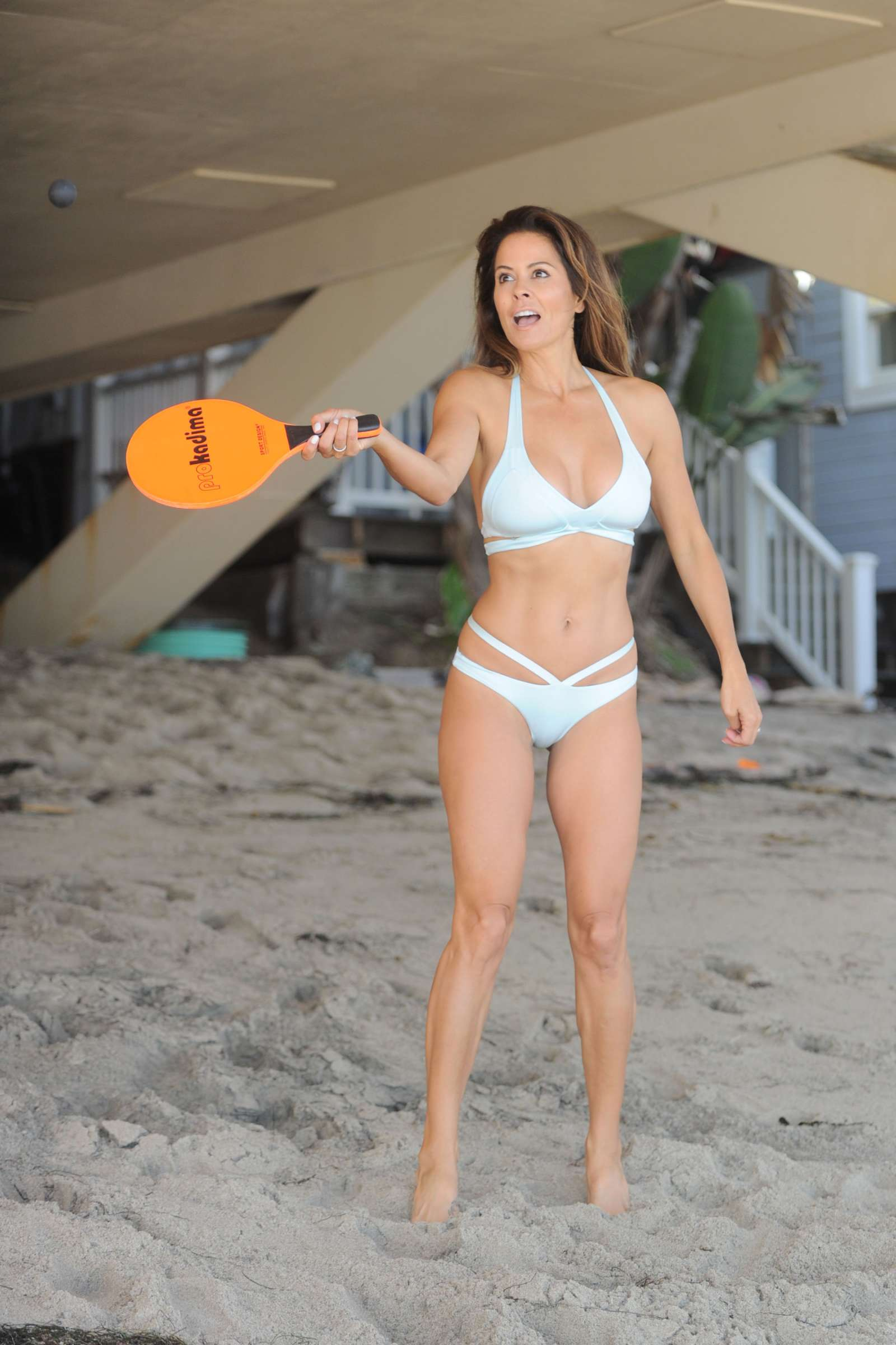 Brooke Burke in Bikini on the beach in Los Angeles