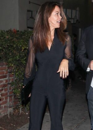 Brooke Burke in Black Night Out in West Hollywood
