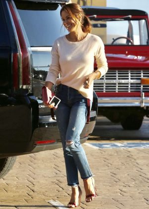 Brooke Burke in Jeans at Nobu in Malibu
