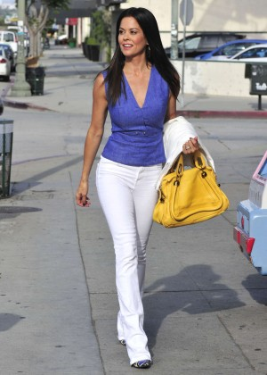 Brooke Burke in Jeans Out in LA