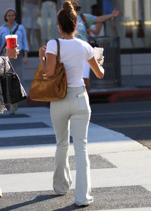 Brooke Burke in Jeans Shopping in Beverly Hills