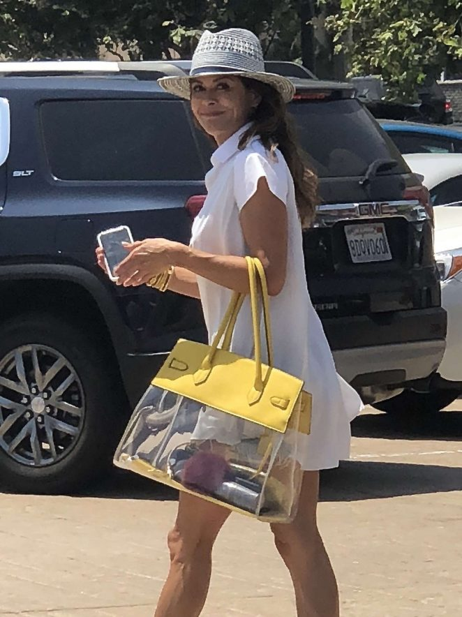 Brooke Burke in Mini Dress - Out in Malibu