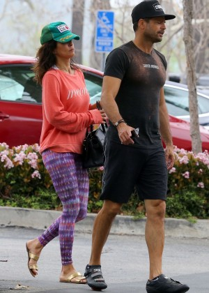 Brooke Burke in Purple Tights out in Malibu