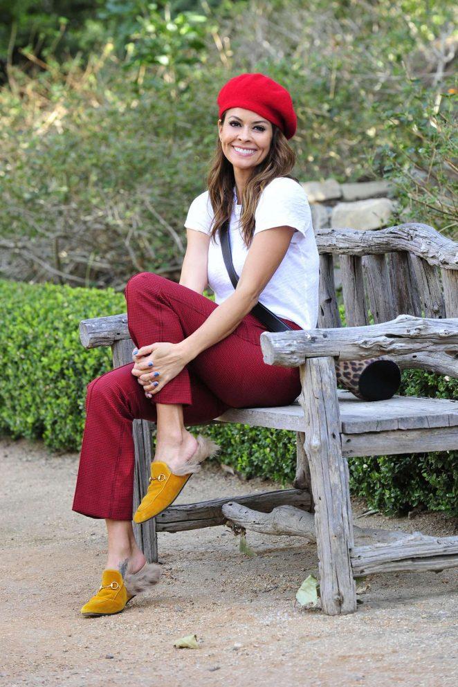 Brooke Burke in Red Pants - Leaving a park in Malibu