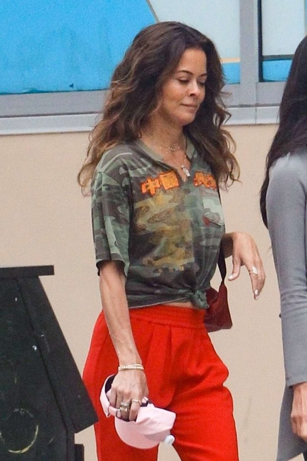 Brooke Burke in Red Pants - Shopping with friends in Hollywood