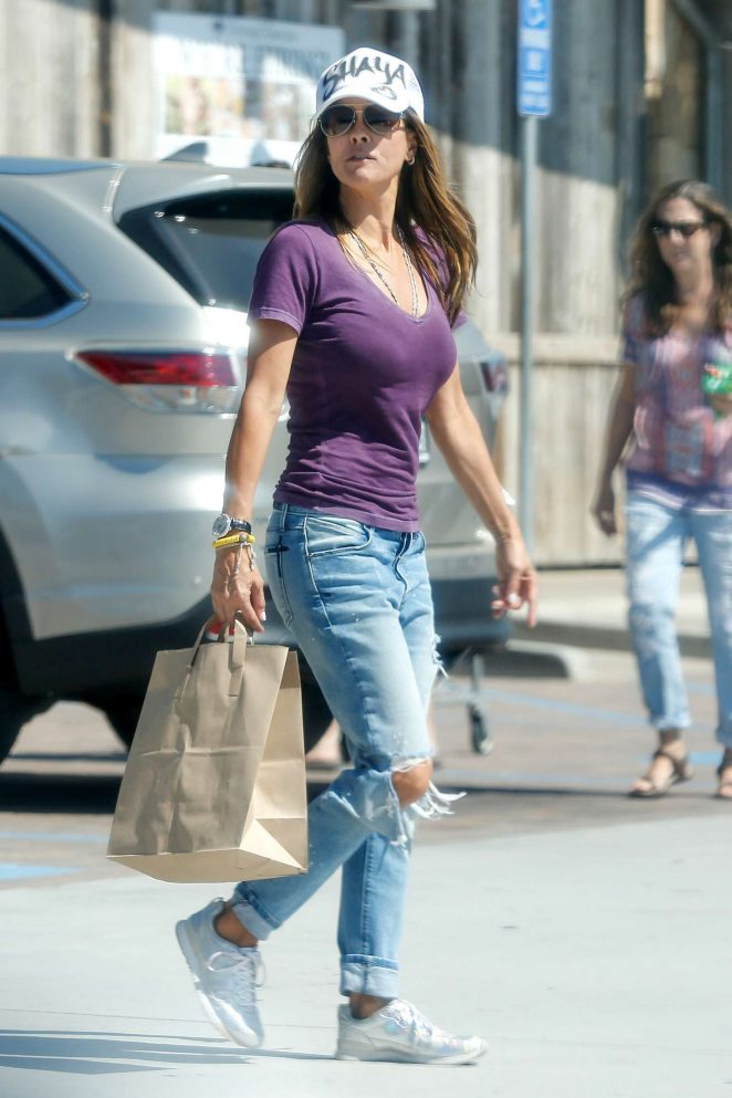 Brooke Burke in Ripped Jeans out in Malibu