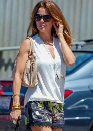 Brooke Burke in Shorts Shopping in Malibu