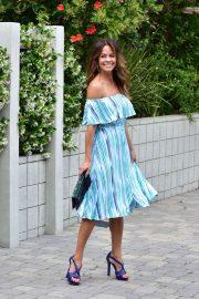 Brooke Burke in Summer Dress - Out in Santa Monica