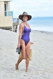 Brooke Burke in Swimsuit on the beach in Malibu
