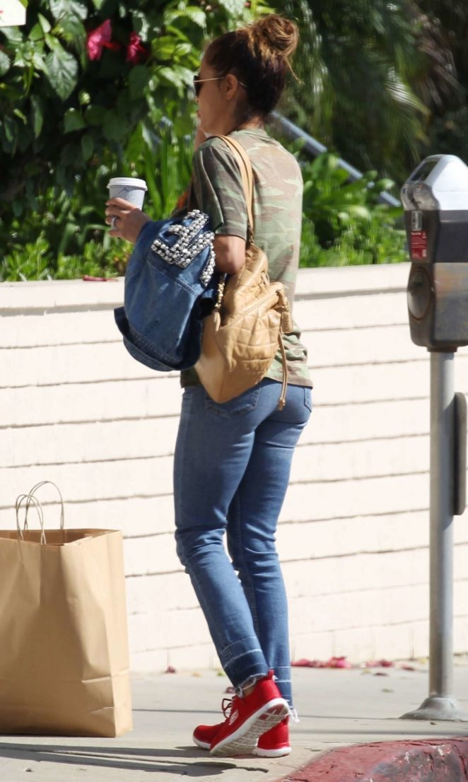 Brooke Burke in Tight Jeans Out in Los Angeles