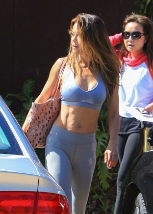 Brooke Burke in Tights and Sports Bra out in Los Angeles