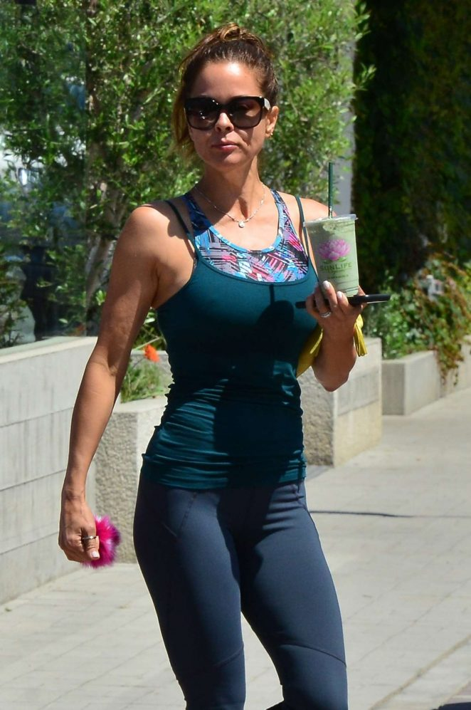 Brooke Burke in Tights Out in Malibu