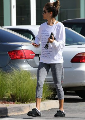 Brooke Burke in Tights out shopping in LA
