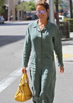 Brooke Burke - Leaves a salon in Beverly Hills