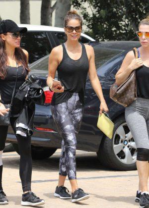 Brooke Burke Leaves a workout in Malibu