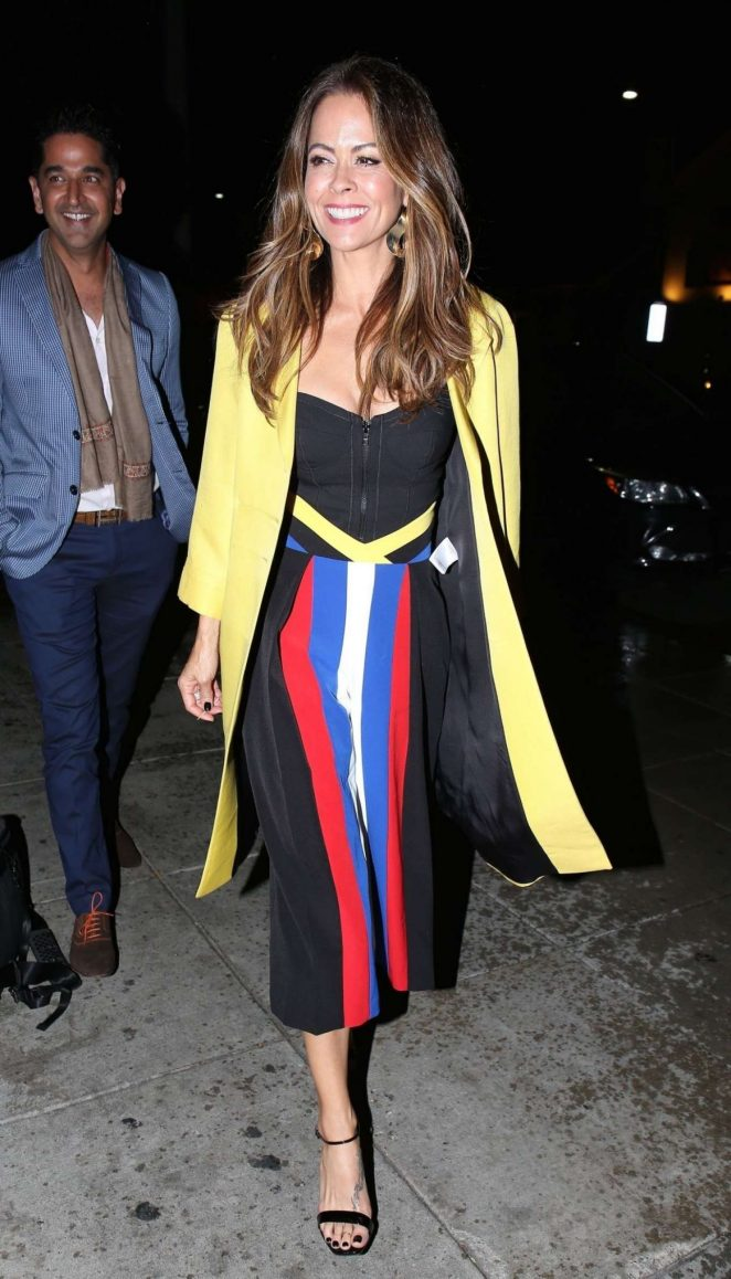 Brooke Burke – Leaves Matsuhisa Restaurant in Beverly Hills