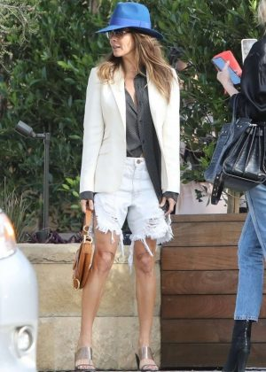 Brooke Burke - Leaves Soho House in Malibu