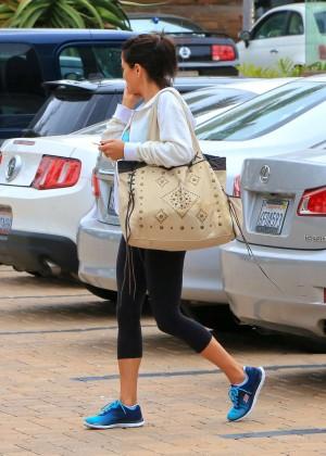 Brooke Burke in Leggings Leaving SoulCycle in Malibu