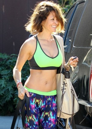 Brooke Burke in Leggings  Leaving the gym in Malibu