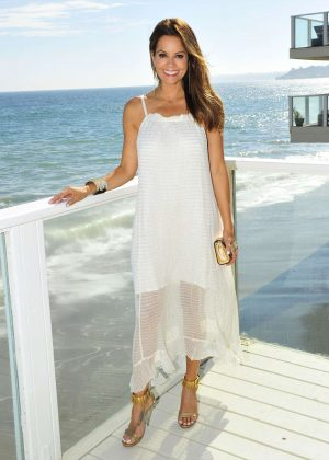 Brooke Burke out for dinner in Malibu