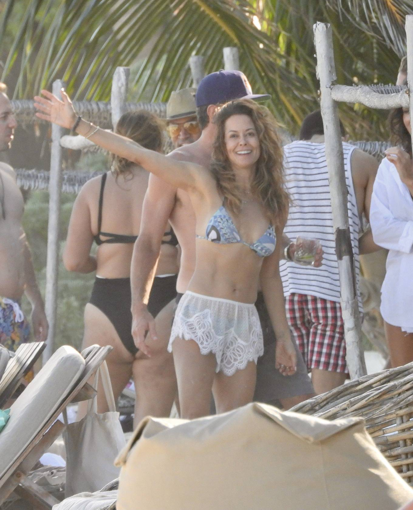 Brooke Burke - Spotted in a bikini on the beach in Tulum