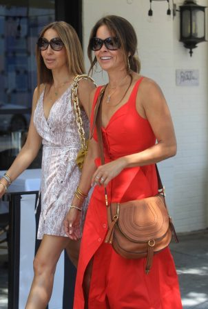 Brooke Burke with a girlfriend in Beverly Hills