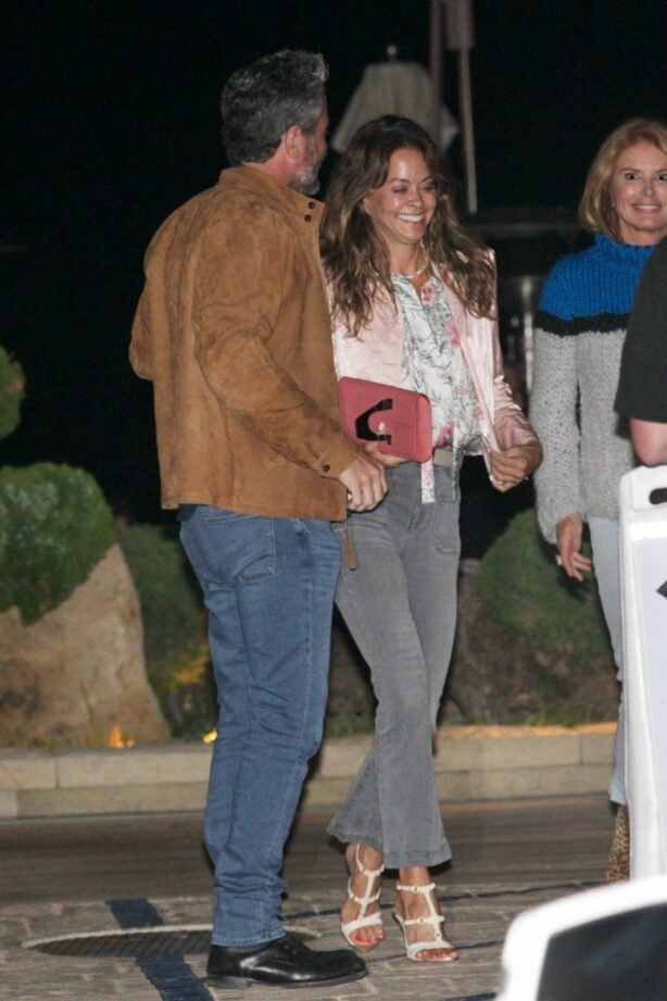 Brooke Burke - With boyfriend Scott Rigsby seen at Nobu in Malibu